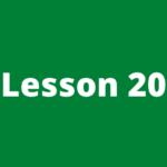 Forex course lesson 20