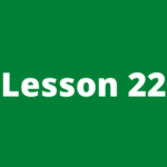 Forex course lesson 22