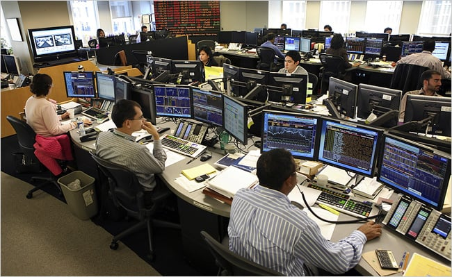 trading floor in prop trading firm