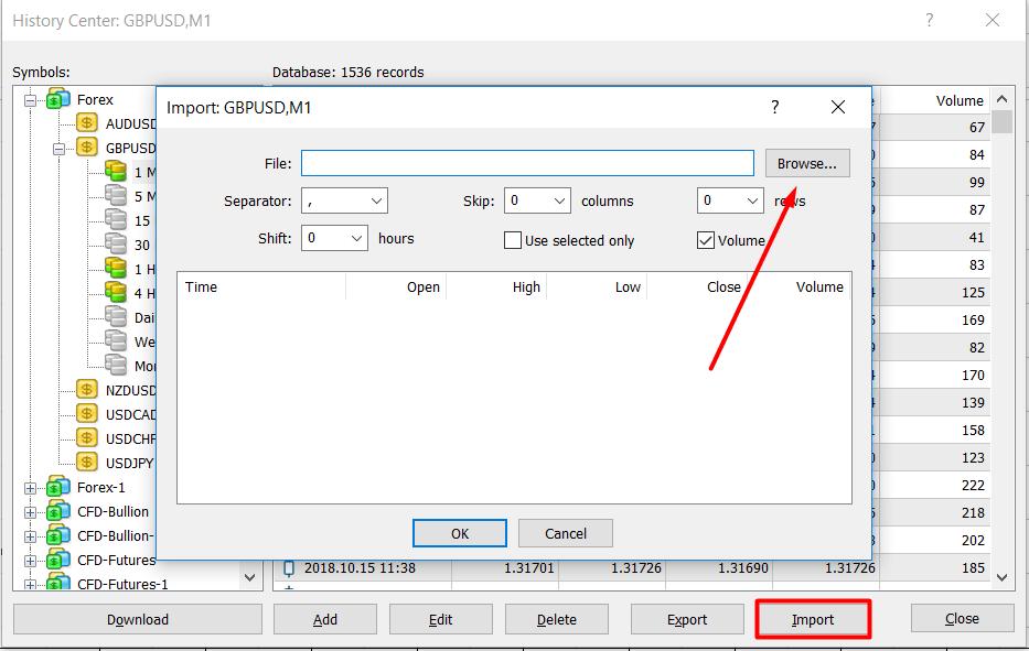 uploading history data in mt4